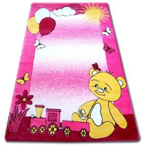 Detský koberec HAPPY TEDDY ružový