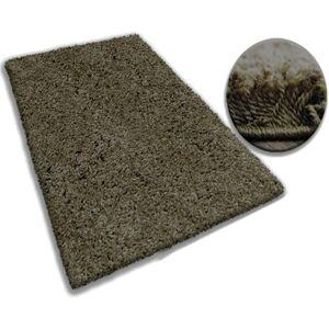Kusový koberec SHAGGY GALAXY hnědý
