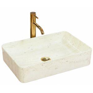 Keramické umyvadlo na desku Rea Kim 51x34 cm bílé