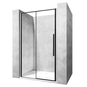 Sprchové dvere SOLAR BLACK MAT 150