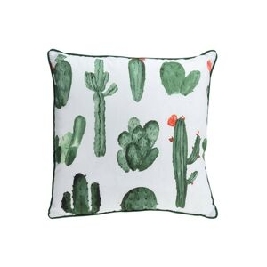 Vankúš so vzorom kaktusov 45 × 45 cm