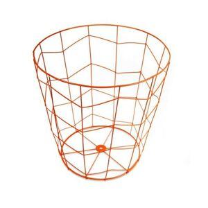 Drátěný odpadkový koš Vicente oranžový