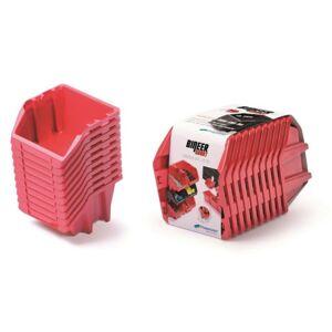 Sada úložných boxů BINEER SHORT 10 ks 28,8x15,8x18,7cm červené