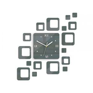 3D nalepovací hodiny Roman Quadrat tmavě šedé