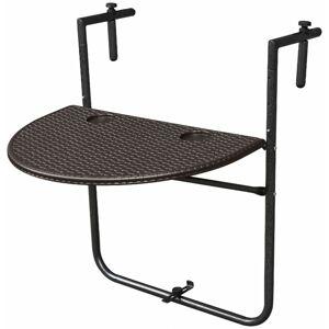 Balkonový stolek na zábradlí