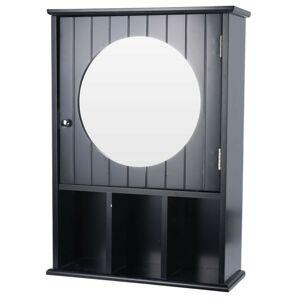Nástěnná skříňka se zrcadlem Espejo černá