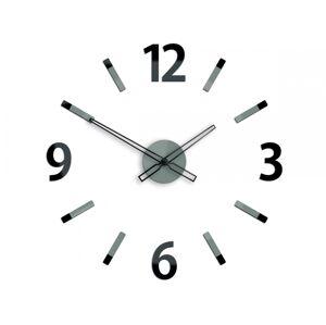 3D nalepovací hodiny Will šedo-černé