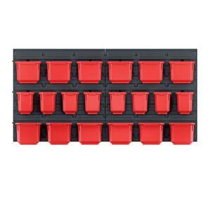 Závěsný organizér s 20 boxy ORDERLINE 80x16,5x40 cm černo-červený