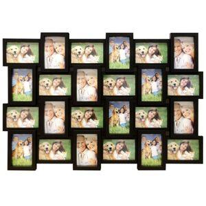 Fotorámeček na stěnu 24 fotografií - 10 x 15 cm černá