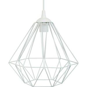 Stropné svietidlo Diamond 25 cm biele
