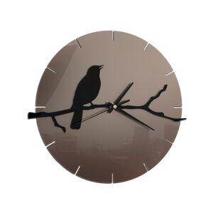 Nástěnné hodiny Bird šedo-černé