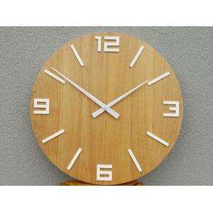 Nástěnné hodiny Rustikální hnědo-bílé