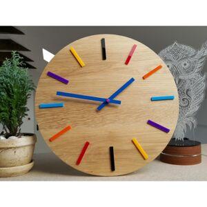 Nástěnné hodiny Colorfull hnědé