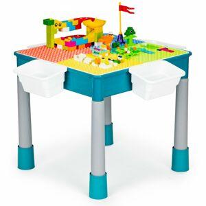 Multifunkční stolek se židličkou Lennie modrý