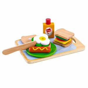 Dřevěná sada pro děti Snídaně EcoToys
