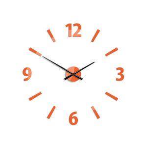3D nalepovací hodiny Klaus oranžové