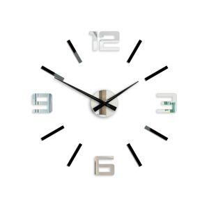 3D nalepovacie hodiny strieborné XL