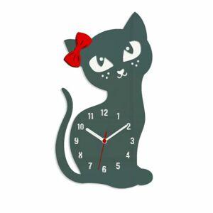 Nástenné hodiny Cat sivé