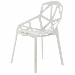 Sada 4 židlí SPIDER bílá