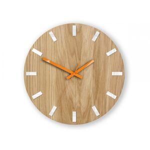 Nástěnné hodiny Simple Oak hnědo-oranžové