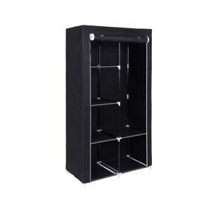 Textilní šatní skříň Marvin černá