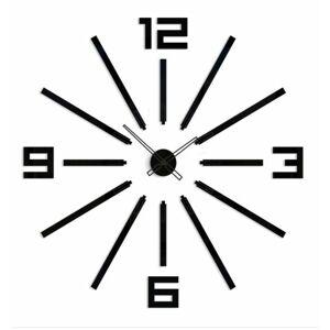 3D nalepovacie hodiny Big Sheen čierne