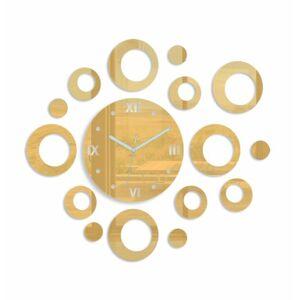 3D nalepovací hodiny Rings zlaté