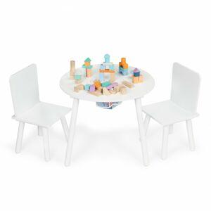 Dětský stůl s židlemi Ecotoys I bílý