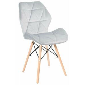 Židle RENNES VELVET šedá