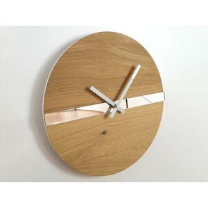 Nástěnné hodiny Oak Mirror hnědé